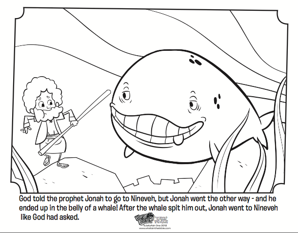 Jonah and the Whale - Bible Coloring Pages | What\'s in the Bible?