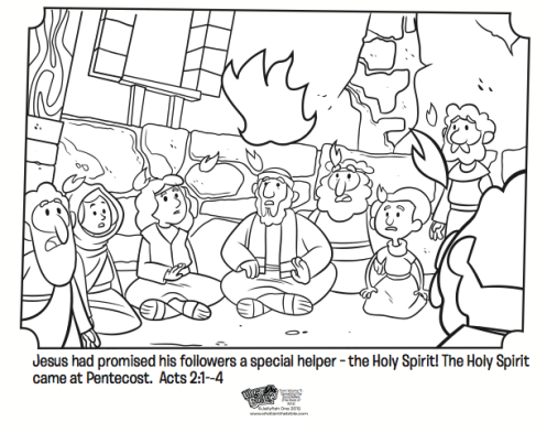 Pentecost coloring page whats in the bible for Gifts of the holy spirit coloring pages