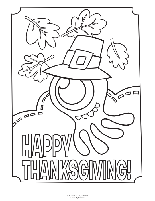 JellyTelly Thanksgiving Coloring page