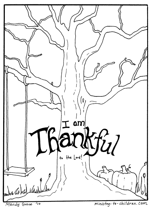 Ministry to Children Thanksgiving Coloring Page