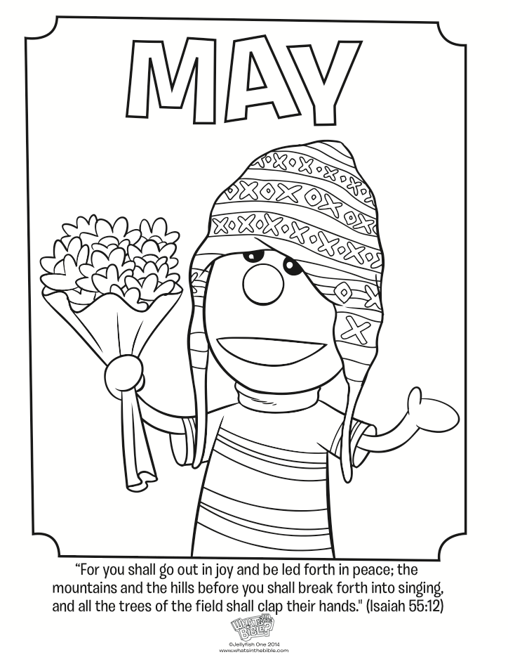 May coloring page isaiah 55 12 whats in the bible for Isaiah told about jesus coloring page